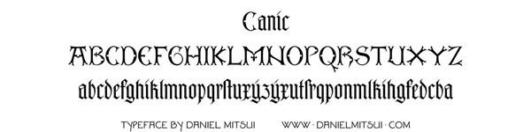 CANIC TYPEFACE