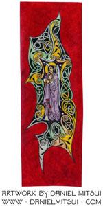 ST. GABRIEL the ARCHANGEL ~ DRAWING by DANIEL MITSUI