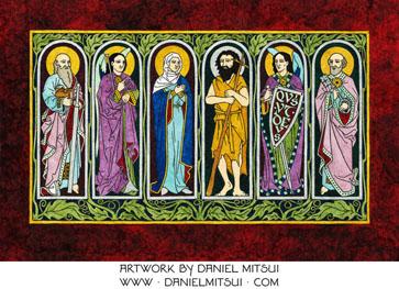 VIRGIN MARY, SS. MICHAEL, GABRIEL, JOHN the BAPTIST, PETER & PAUL