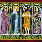 VIRGIN MARY, SS. MICHAEL, GABRIEL, JOHN the BAPTIST, PETER & PAUL